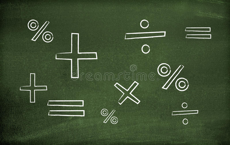 Symboles de maths photographie stock