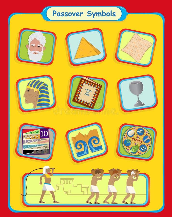 Symboles de pâque illustration stock