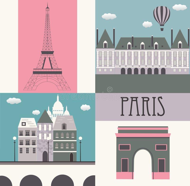 Symboles de Paris. illustration de vecteur