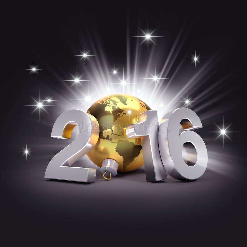 2016 symboles de salutation illustration libre de droits
