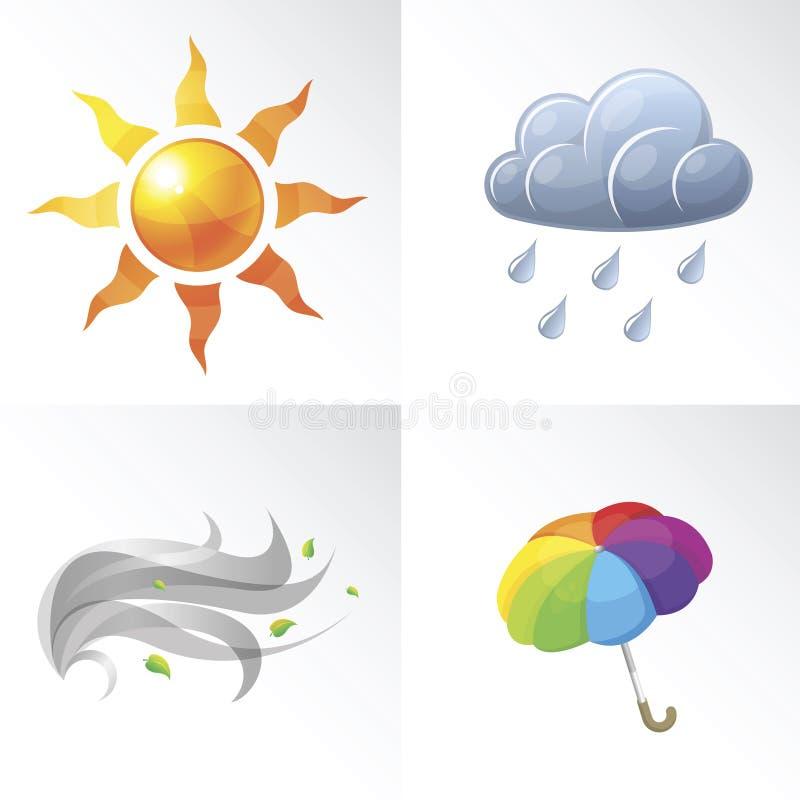 Symboles de temps de vecteur illustration de vecteur