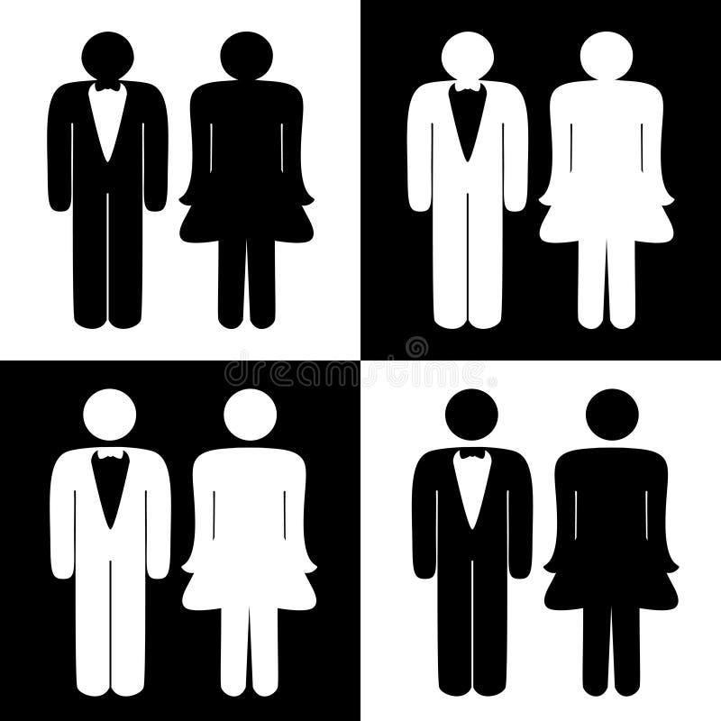 Symboles de toilette de vecteur illustration stock