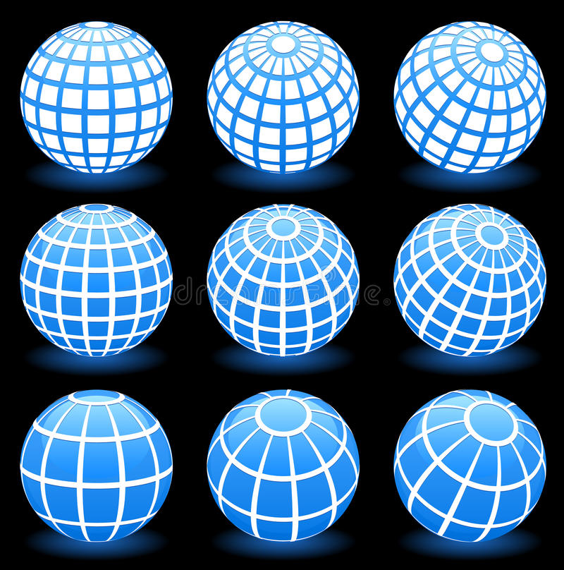 Symboles de trame de fil de globe illustration libre de droits
