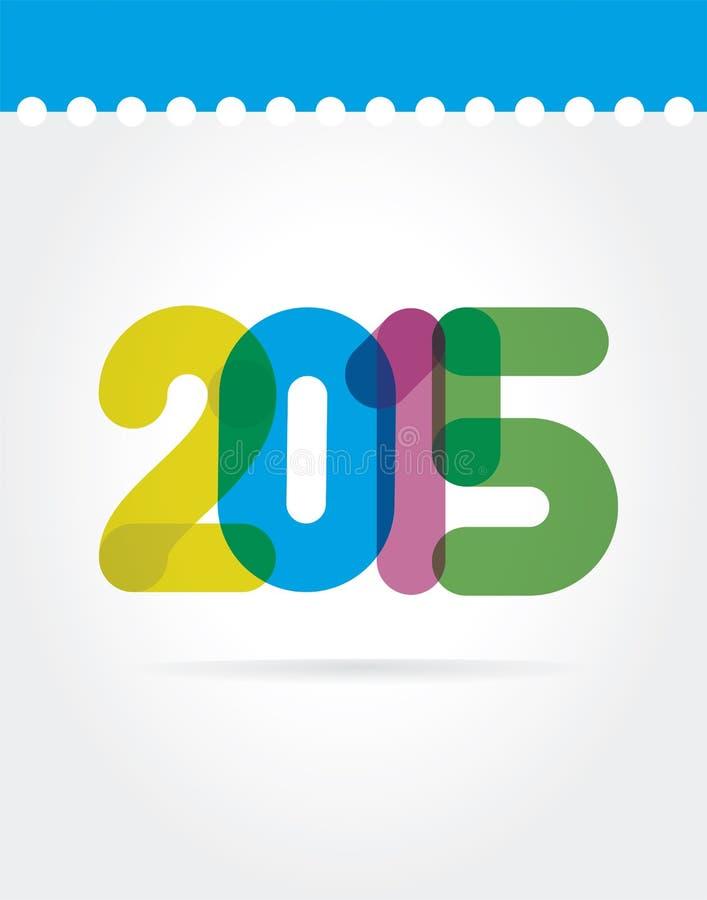 2015 symboles de vecteur d'isolement sur le fond blanc illustration de vecteur