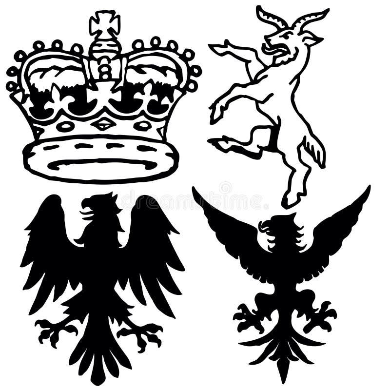 Symboles de Wappen illustration de vecteur