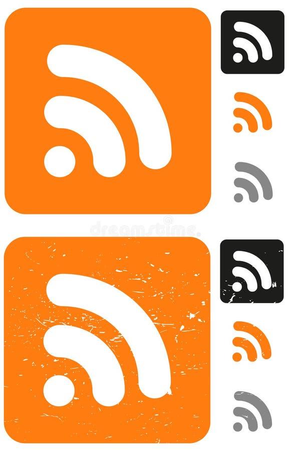 Symboles de WiFi illustration de vecteur
