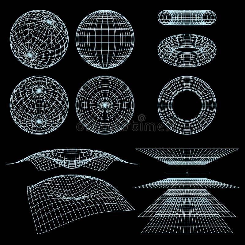 Symboles de Wireframe illustration libre de droits