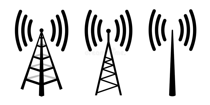 Antenne par radio illustration libre de droits