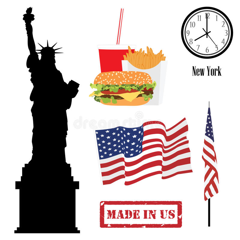 Symboles des Etats-Unis illustration de vecteur