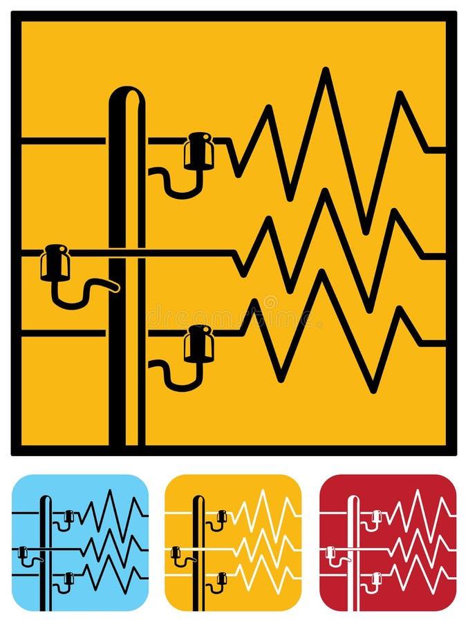 symboles des lignes lectriques illustration de vecteur illustration du grand electrical. Black Bedroom Furniture Sets. Home Design Ideas