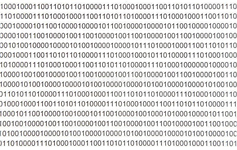 Symboles du code binaire Fond noir et blanc de texture image stock