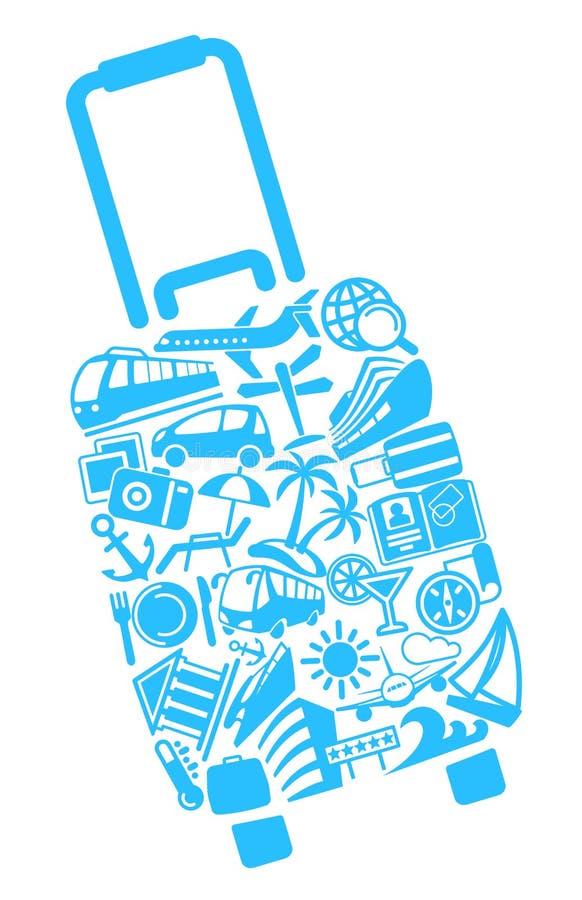 Symboles du tourisme illustration libre de droits