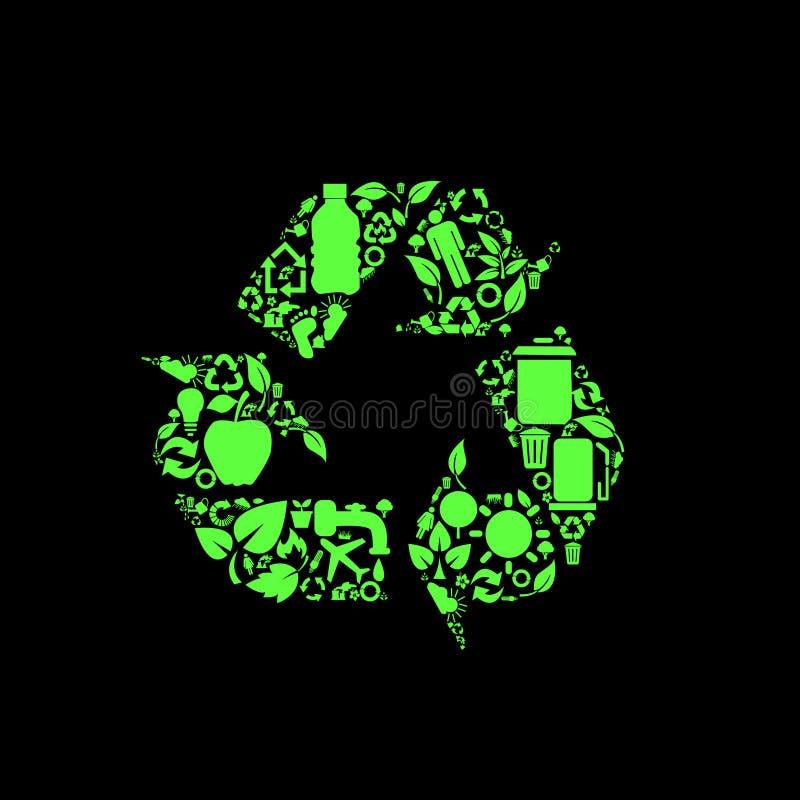 Symboles environnementaux de conservation illustration stock