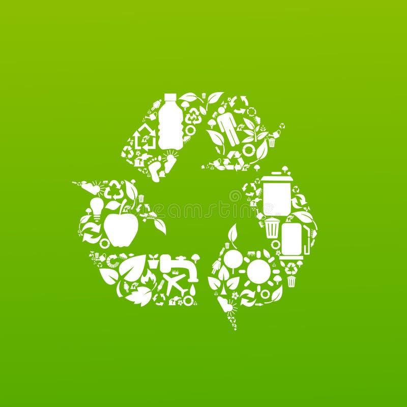 Symboles environnementaux de conservation illustration de vecteur