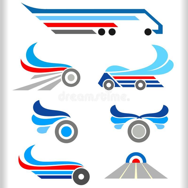 Symboles et graphismes abstraits de transport illustration de vecteur