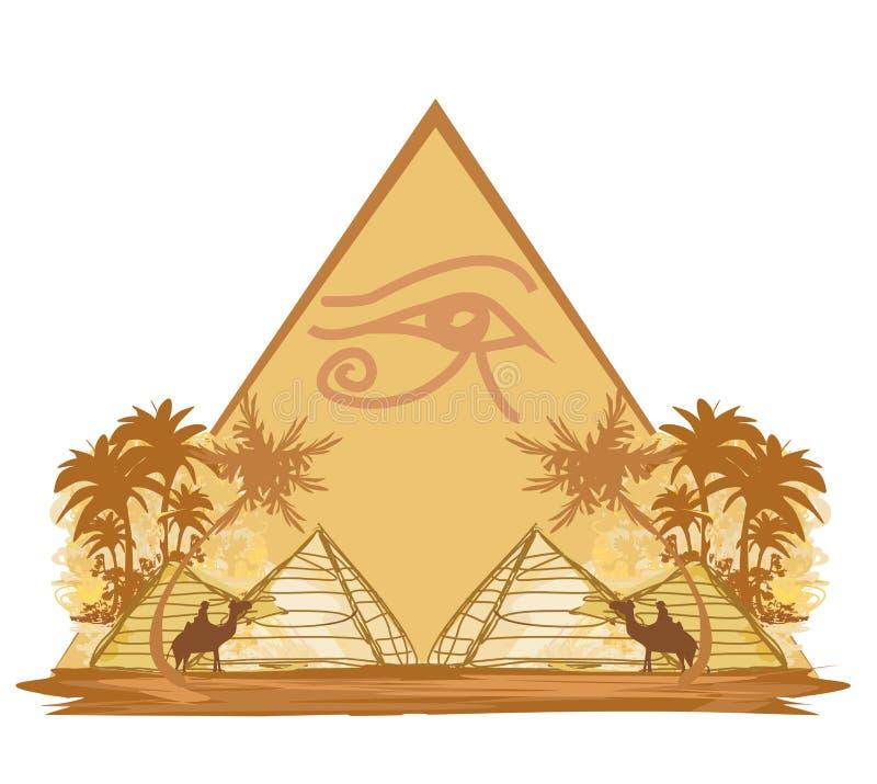 Symboles et pyramides de l'Egypte illustration stock
