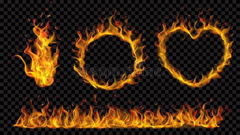 Symboles faits de flamme du feu illustration libre de droits