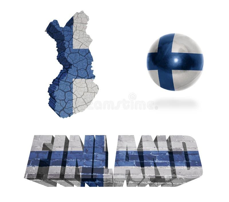 Symboles finlandais illustration libre de droits