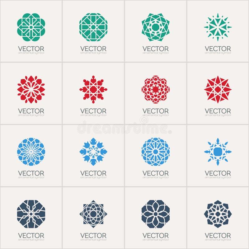 Symboles géométriques de vecteur illustration stock