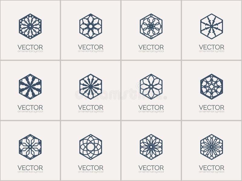 Symboles géométriques de vecteur illustration libre de droits