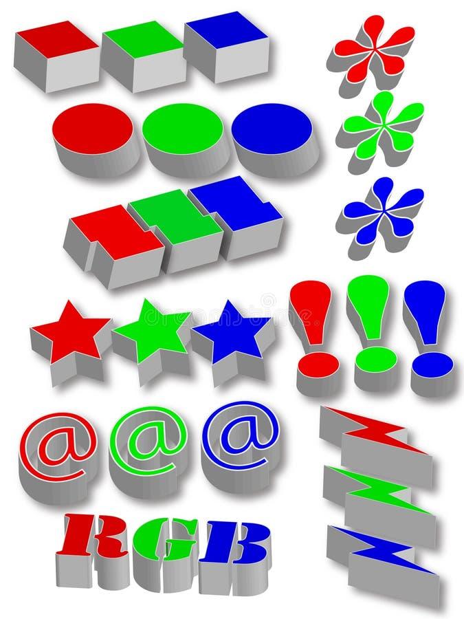 symboles graphiques illustration de vecteur