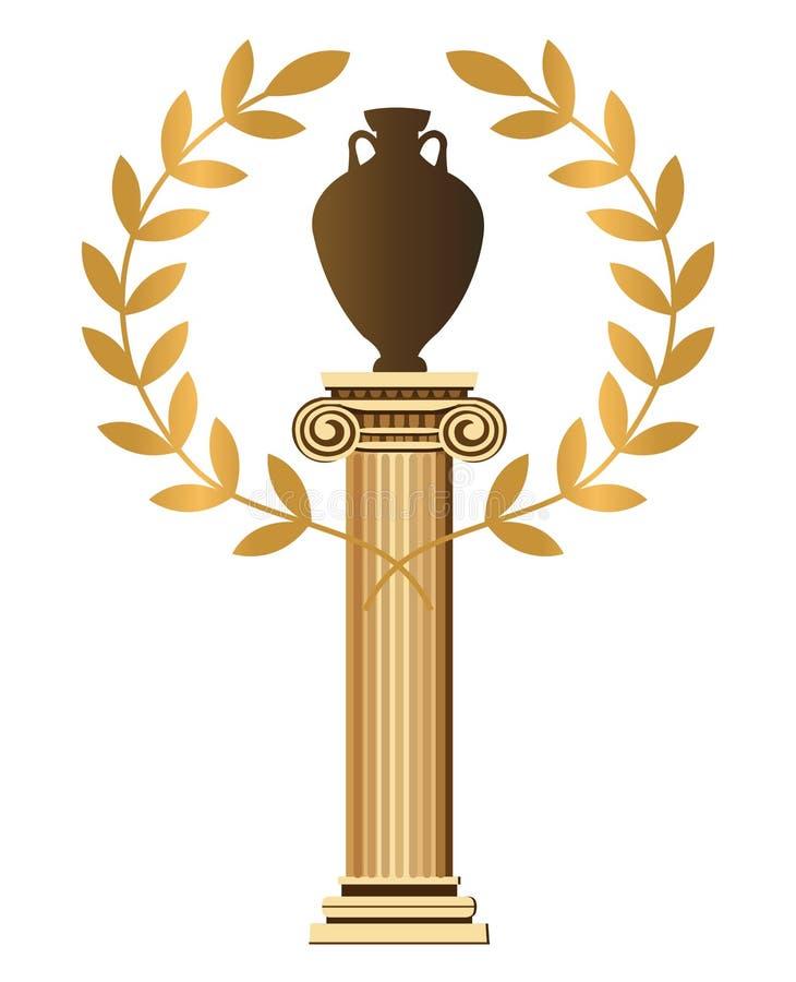 Symboles grecs antiques illustration stock