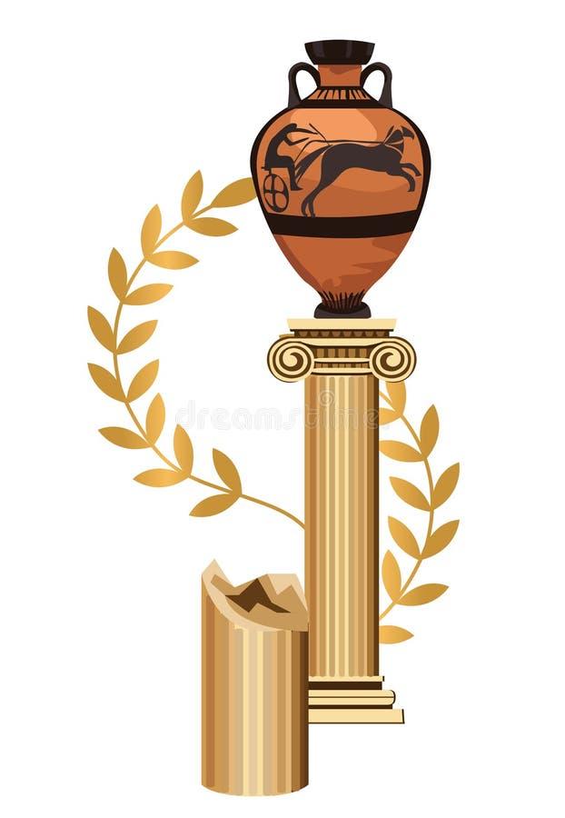 Symboles grecs antiques illustration libre de droits