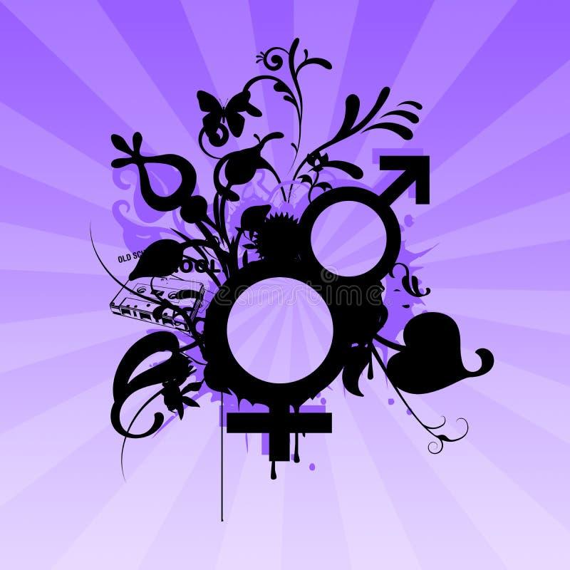 Symboles hommes-femmes illustration de vecteur