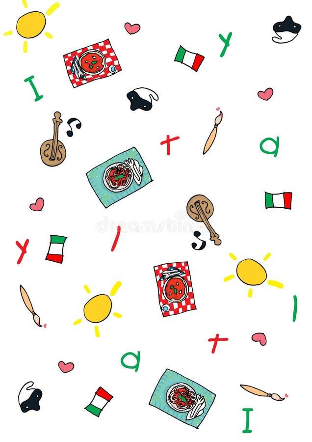 symboles italiens illustration de vecteur