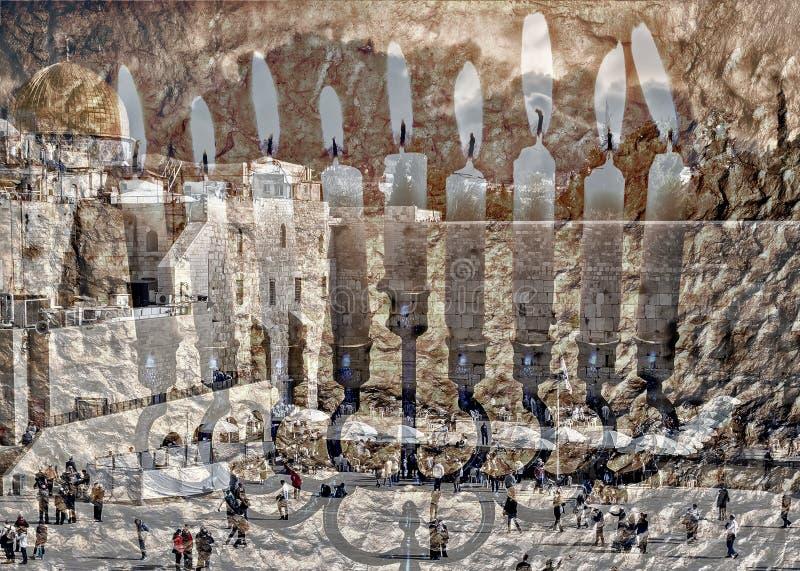 Symboles juifs de vacances de Hanoucca