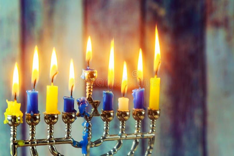 symboles juifs Hanoucca, le festival des lumières juif photos libres de droits