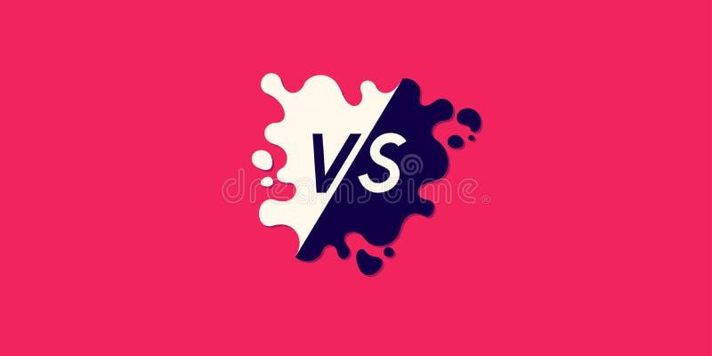 Symboles lumineux d'affiche de confrontation CONTRE Illustration de vecteur illustration de vecteur