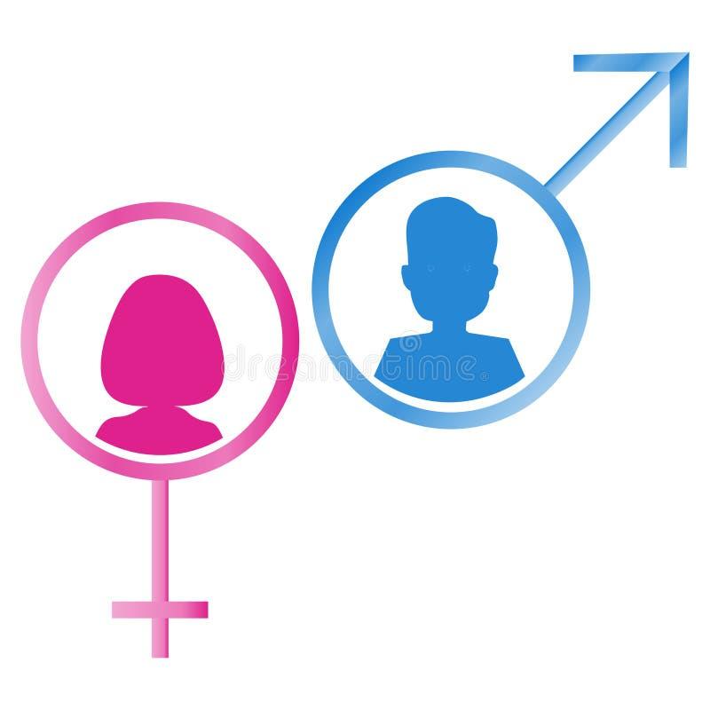 Symboles mâles et femelles de genre illustration libre de droits