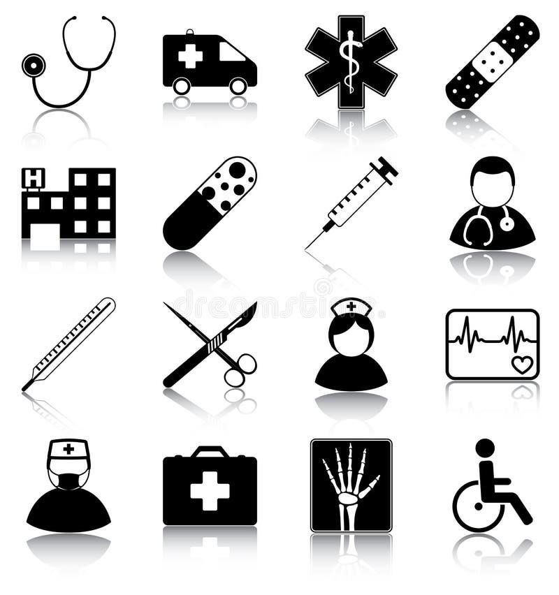 Symboles médicaux illustration de vecteur