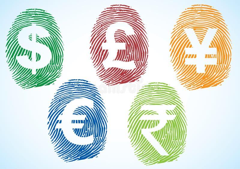 Symboles monétaires illustration stock