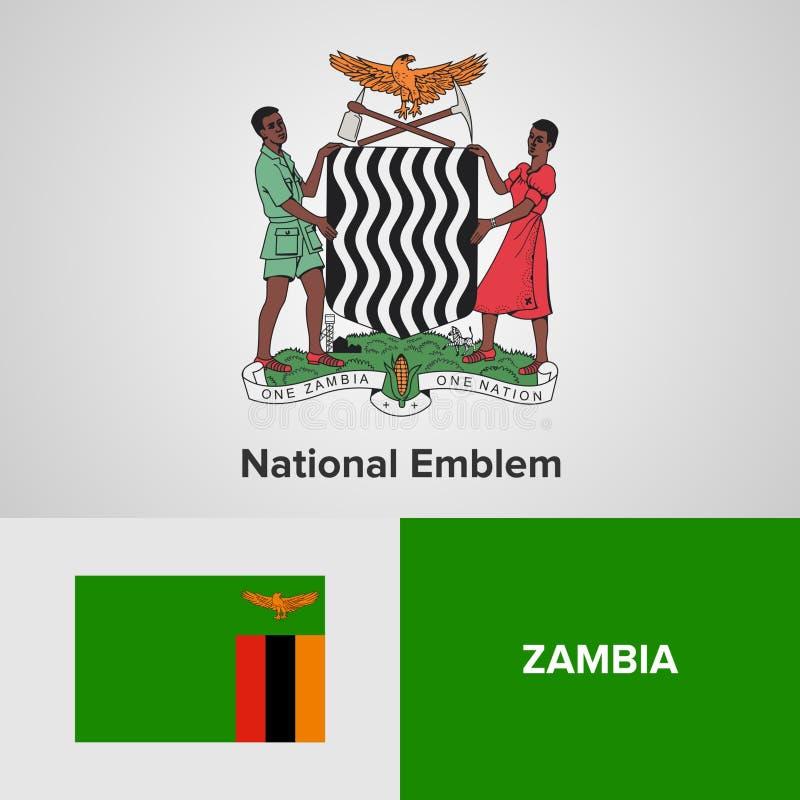 Symboles nationaux de la Zambie photos libres de droits