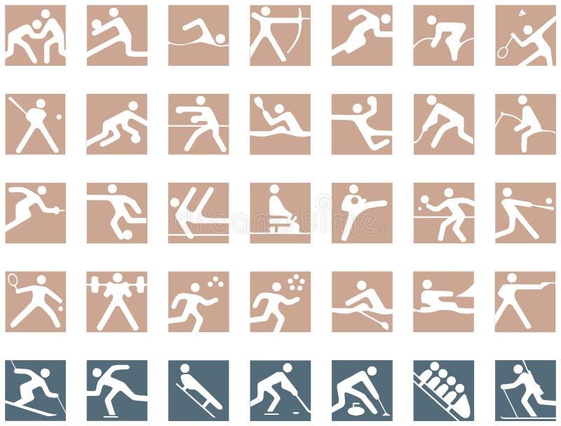 Symboles olympiques illustration stock