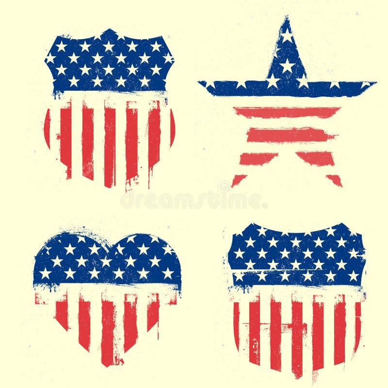 Symboles patriotiques illustration libre de droits