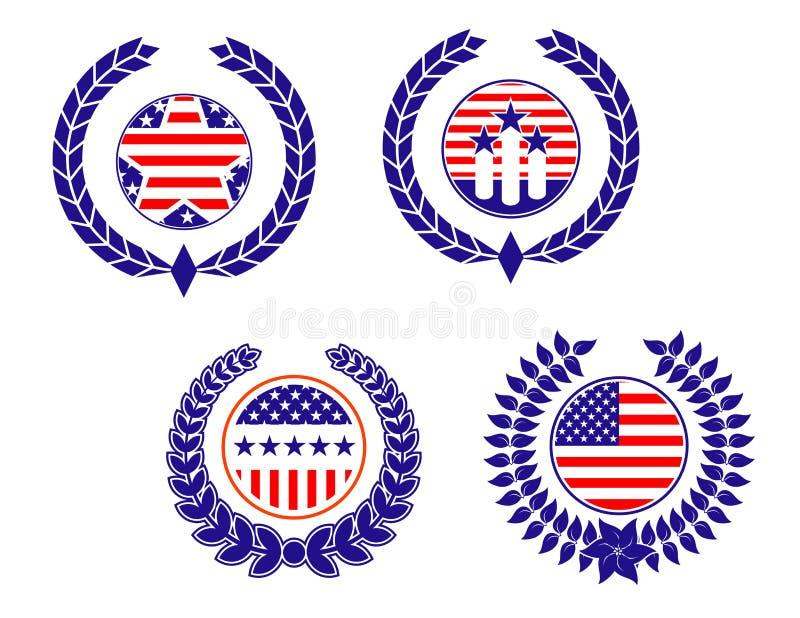 Symboles patriotiques américains illustration libre de droits