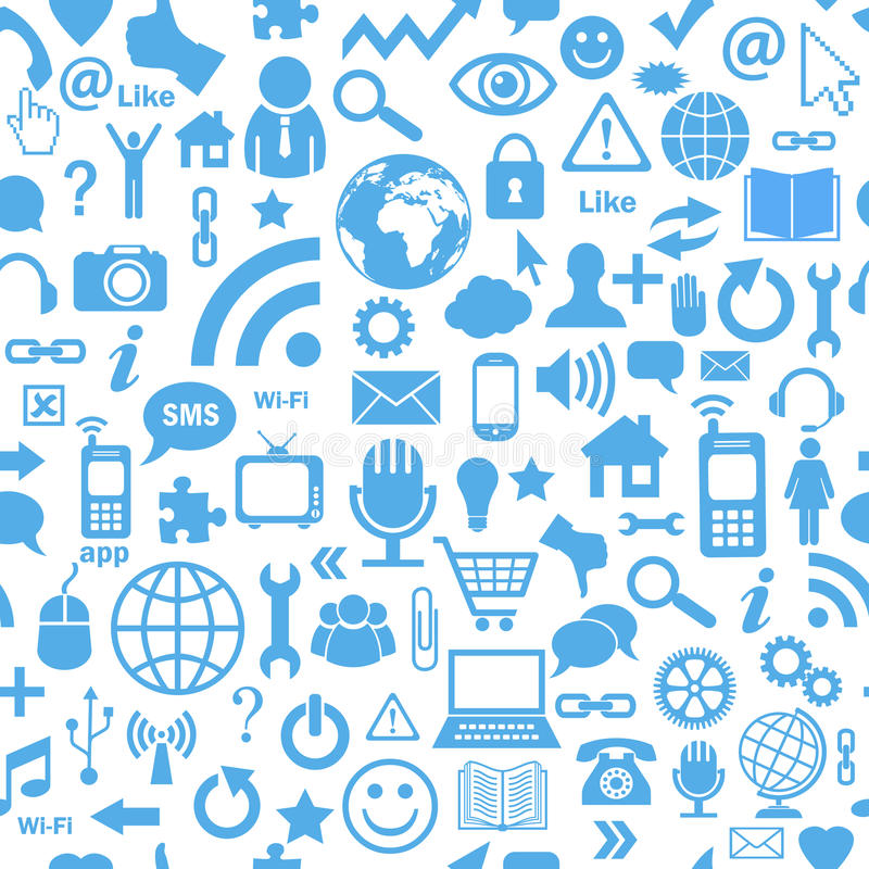 Médias sociaux sans couture illustration de vecteur
