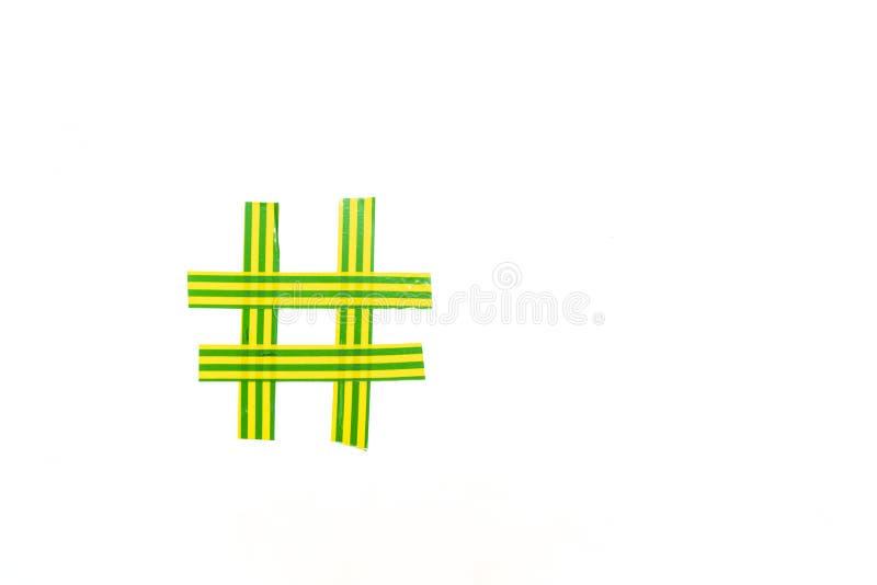Symbolet av pundtecknet royaltyfri bild