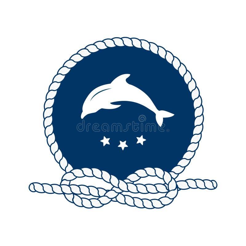 Symbolet av sjömän, seglar, kryssning och havet vektor vektor illustrationer