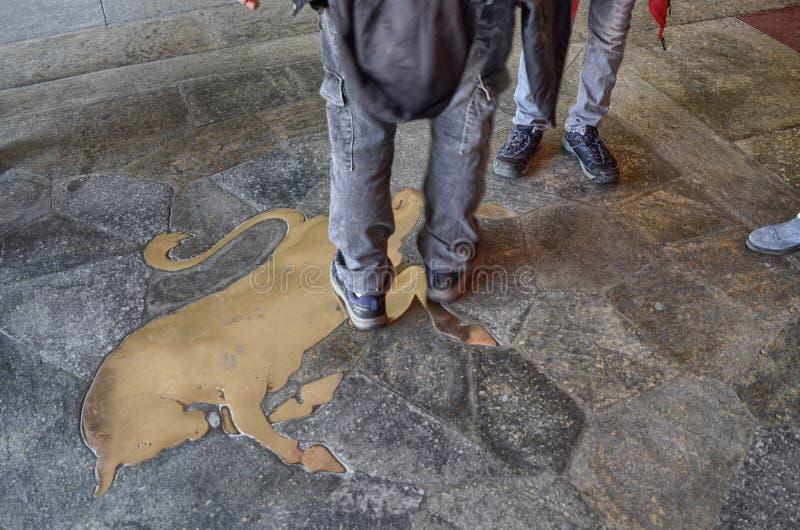 Symbolet av Turin: tjuren arkivbild