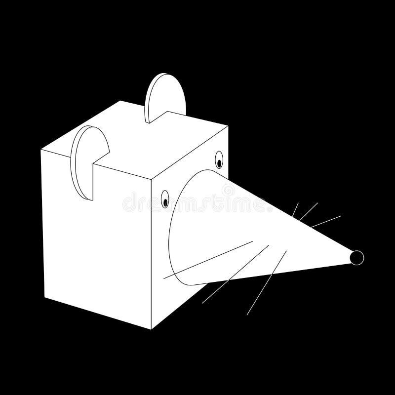 Symbolet för det nya året, vit metall tjaller stock illustrationer