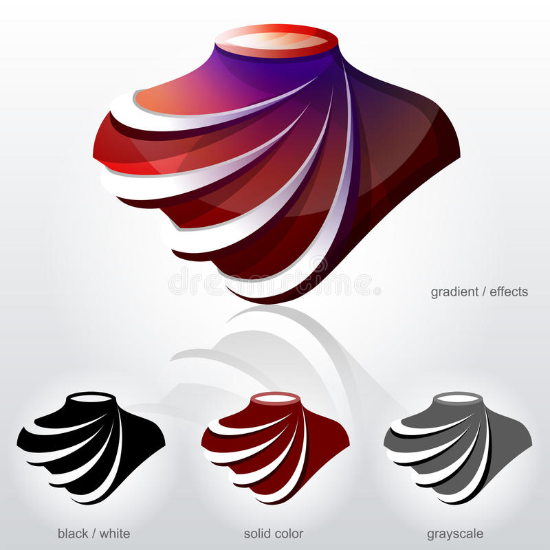 Symbolet i form av bysten med diagonala bågar gillar fa vektor illustrationer