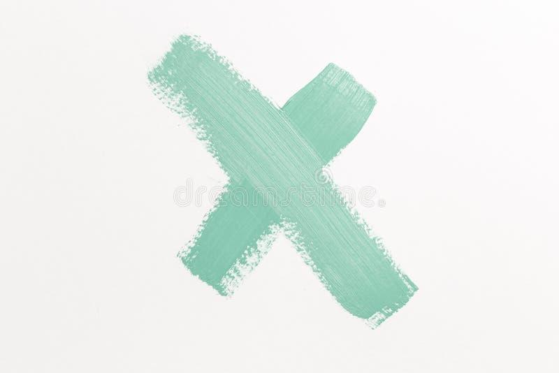 Symbolet med bokstaven X royaltyfri bild