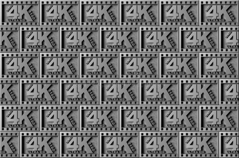 Symbolhintergrund des Silbers 4K lizenzfreie abbildung