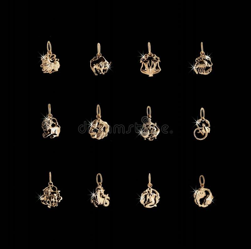 symboli horoskopów zodiak 12 ilustracji