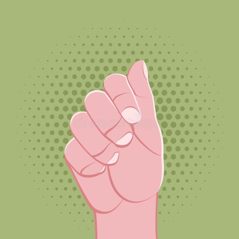 Symbolic hand fingers gesture illustration stock illustration