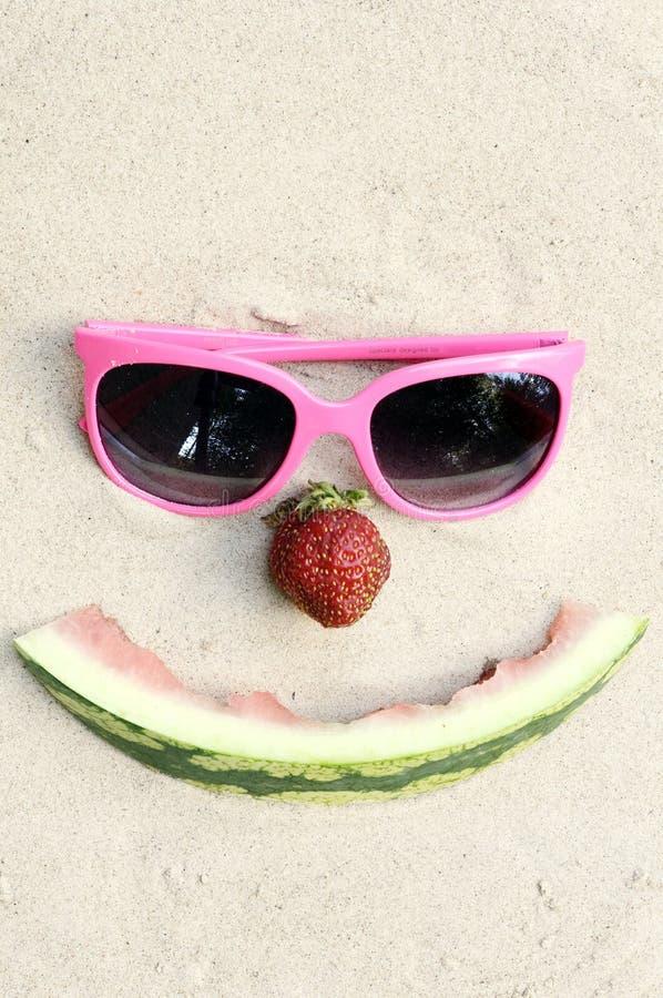 Symbolic happy summer face royalty free stock photography